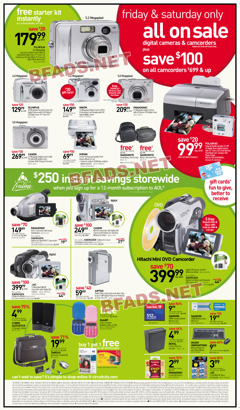 Here is the black friday ad for circuit city day after thanksgiving